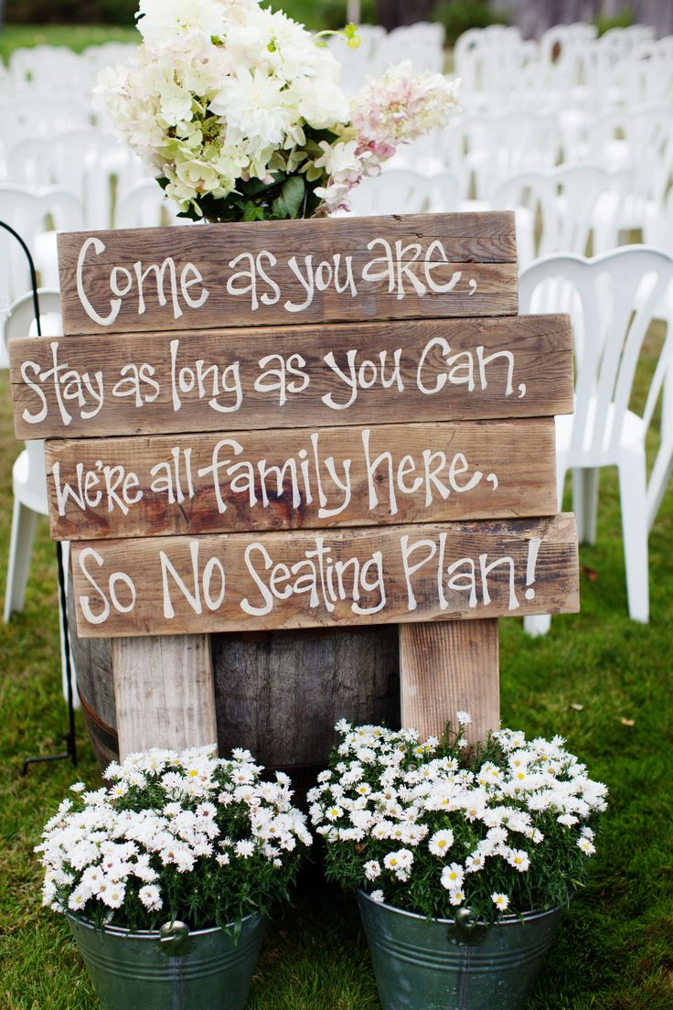 wedding sign on a pallet