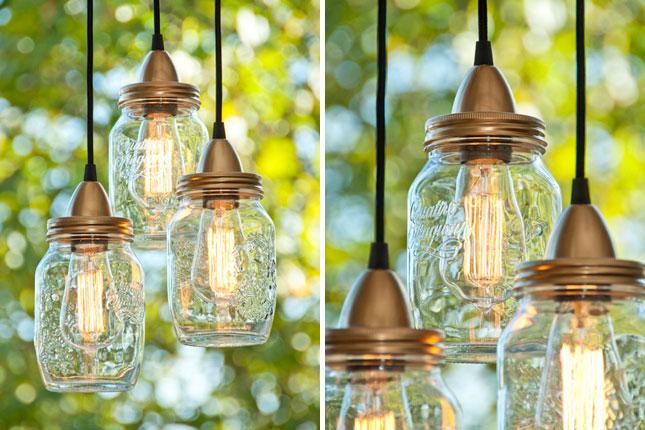 Pendant Lights mason jar decor ideas