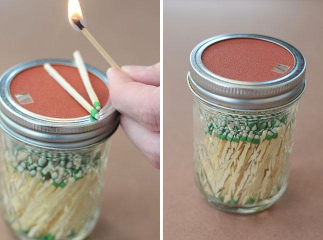 mason jar matches craft idea