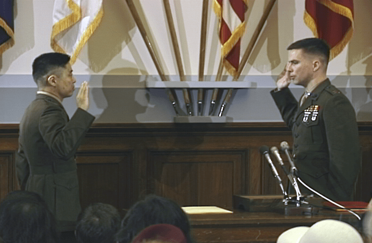 Taking Oath at Commissioning Ceremony, Capitol Hill, Wash DC