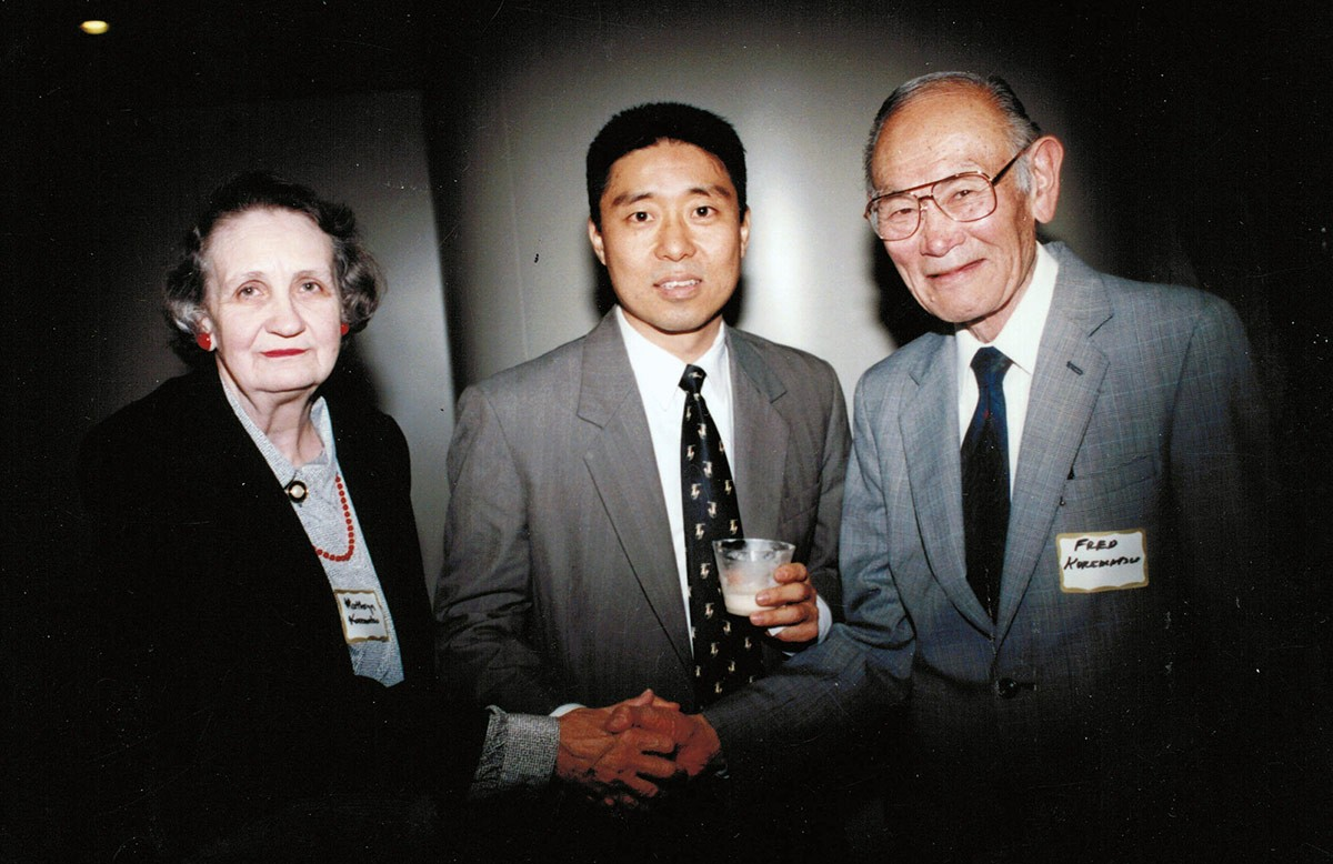 Speaking-at-Levi-Strauss-Event-Fred-and-Katherine-Korematsu--San-Francisco