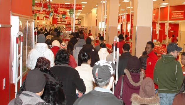 Shoppers on Black Friday