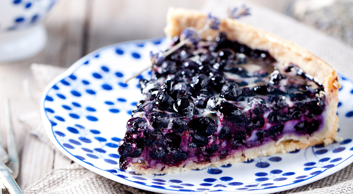 Delicious and fresh blueberry pie