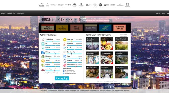 Hilton Trip Planner Review