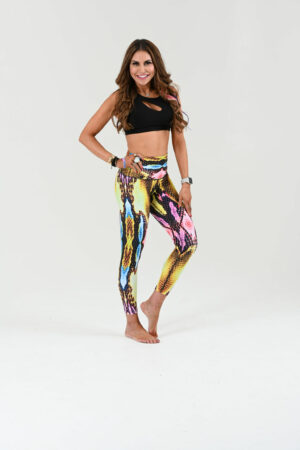 Multi colored snake pant