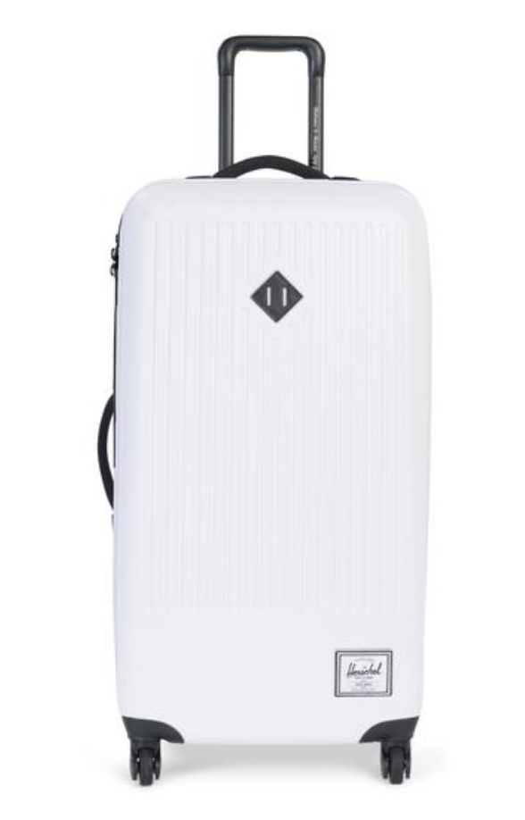 white herschel hard case luggage