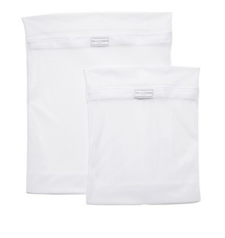 white colored laundry bag