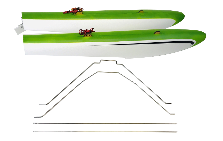 RV-8 FLOAT SET w STRUTS & LED – GREEN