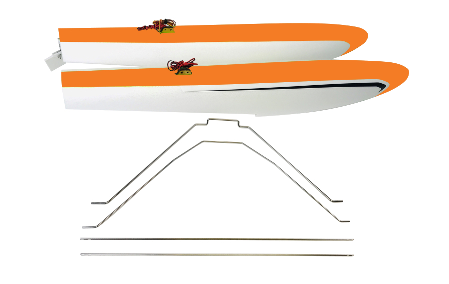 RV-8 FLOAT SET w STRUTS & LED – ORANGE