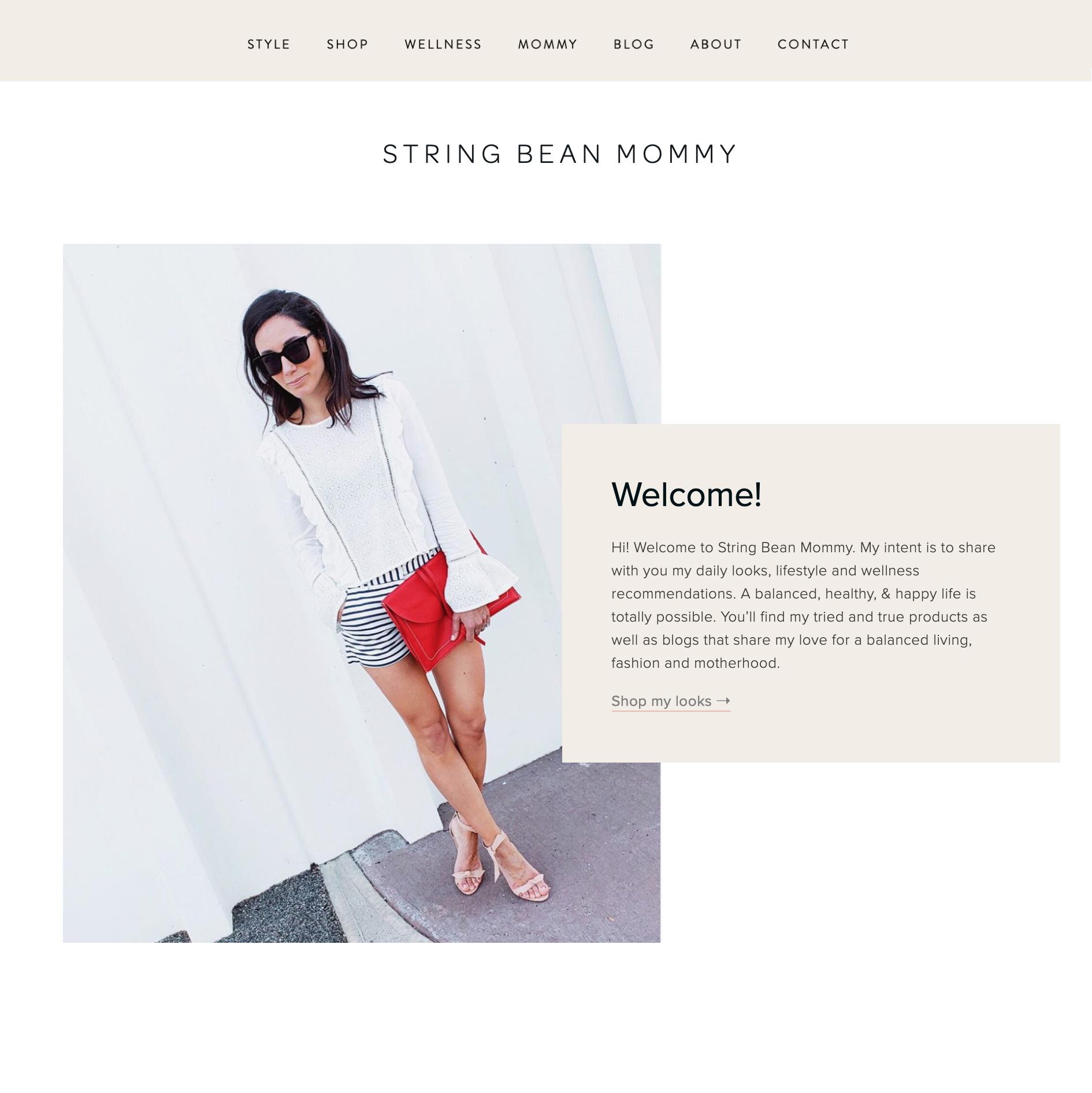 Blog site with LikeToKnowIt & RewardStyle integration