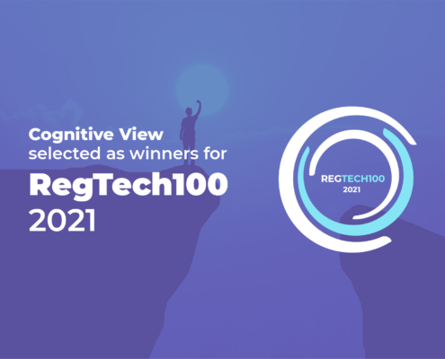 Cognitive View Blog RegTech100 2021
