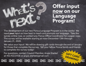Offer input now on our Language Program!