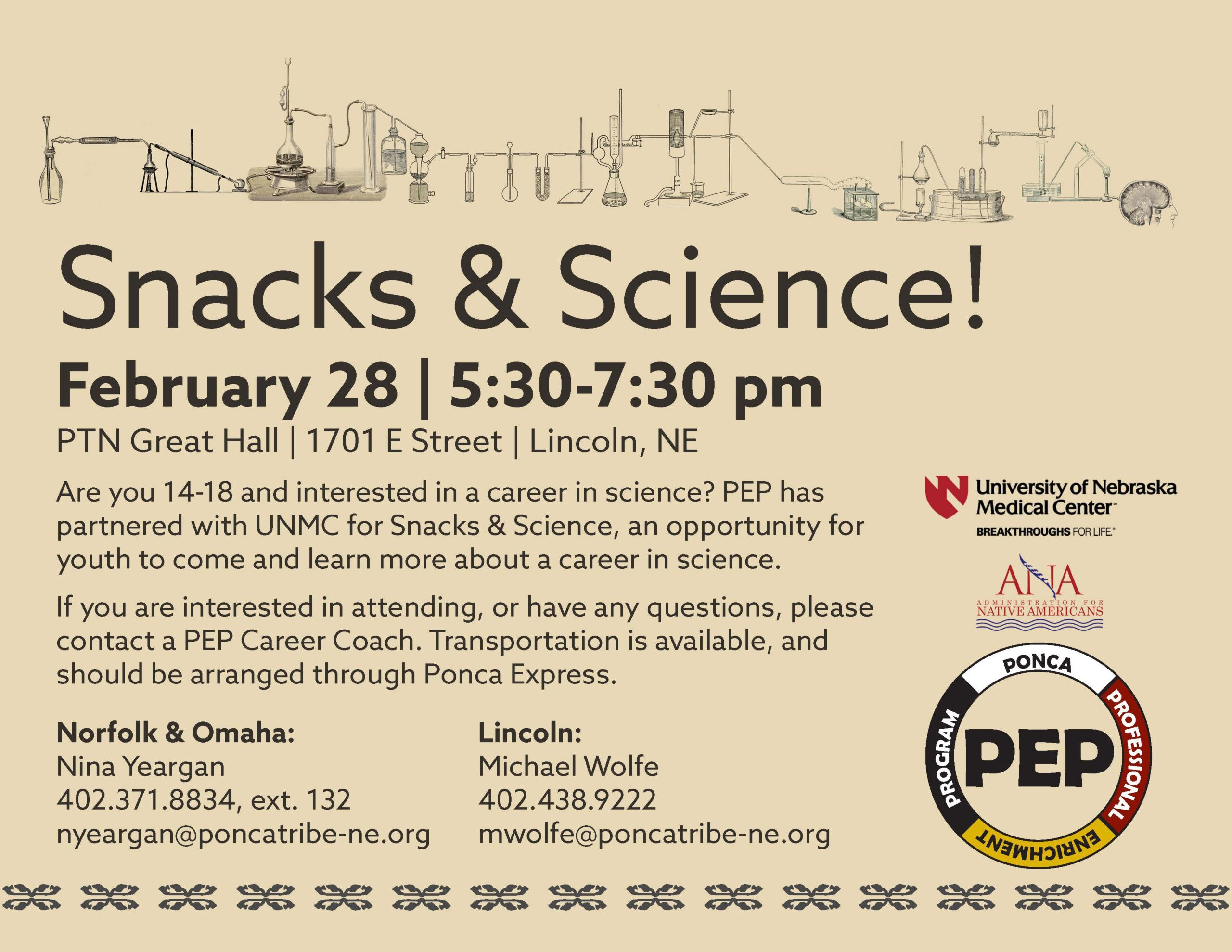 Snacks and Science - Lincoln