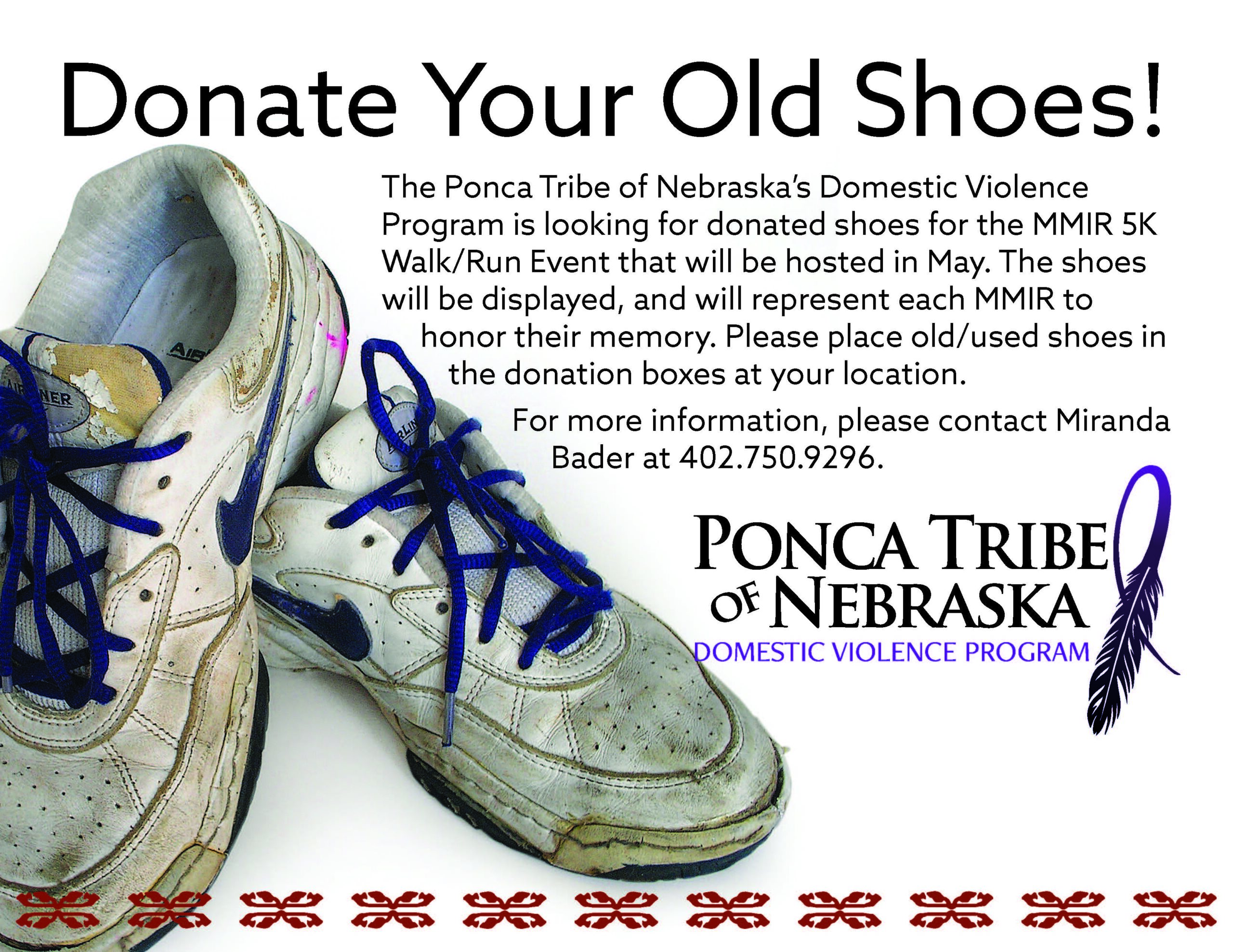 Shoe Donations Requested for MMIR Walk/Run
