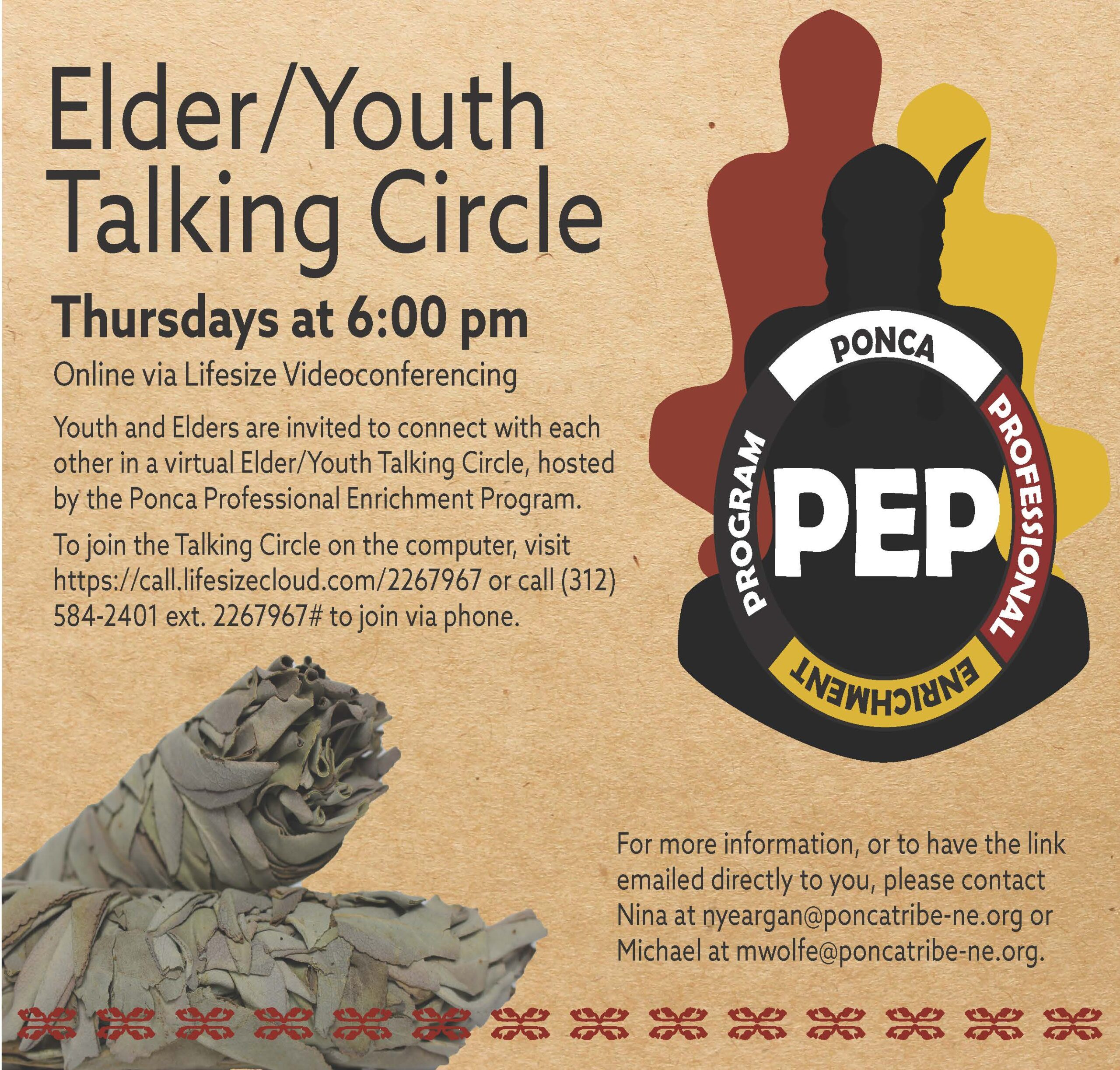 You are currently viewing PEP Hosts Elder/Youth Virtual Talking Circle