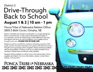 District 2 Drive-Through Back to School