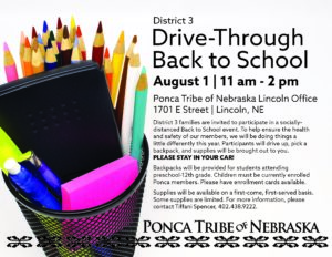 District 3 Drive-Through Back to School