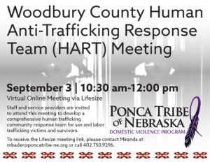 Woodbury County Human Anti-Trafficking Response Team (HART) Meeting