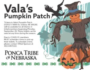District 3 Vala's Pumpkin Patch Tickets