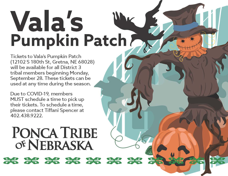 District 3 Vala's Pumpkin Patch Tickets