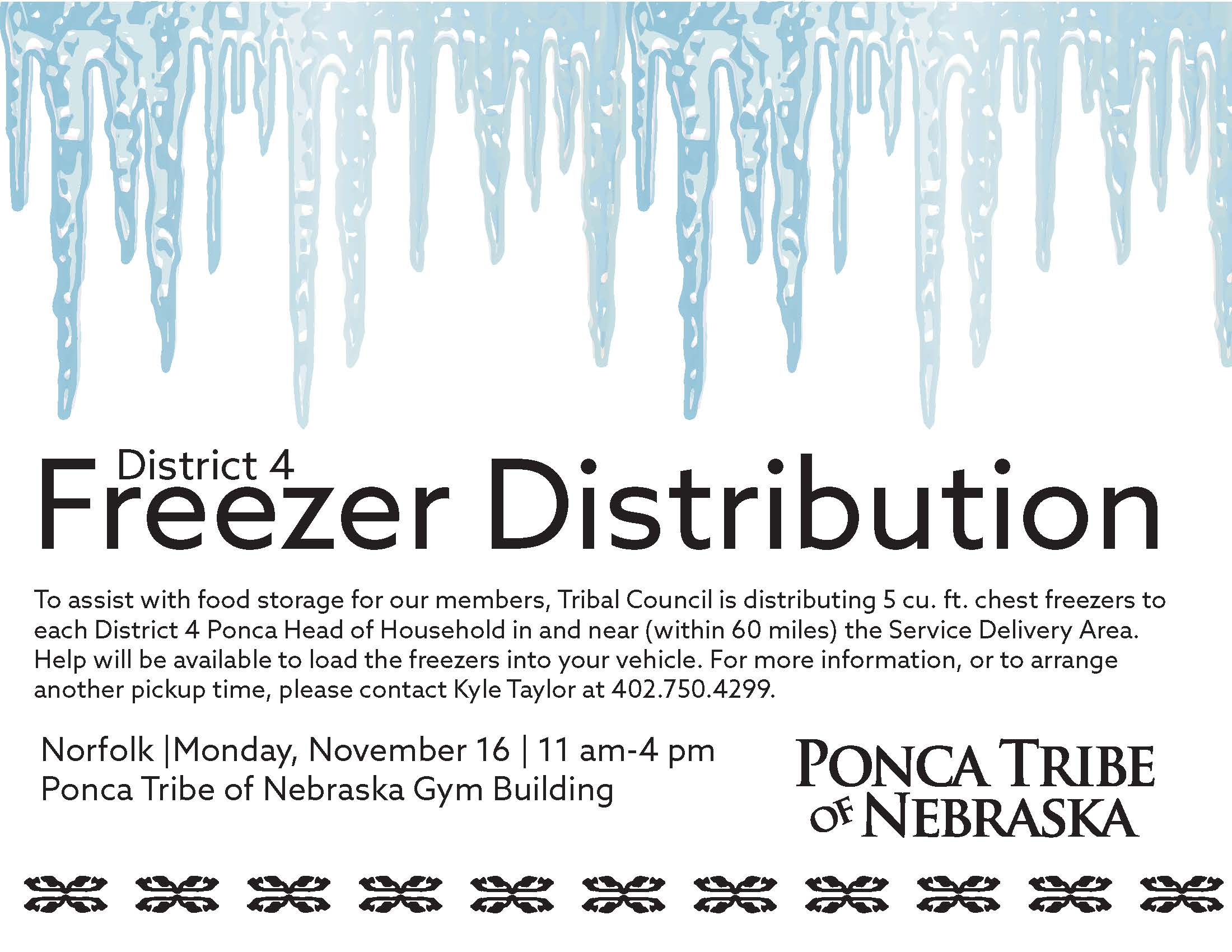 District 4 Freezer Distribution