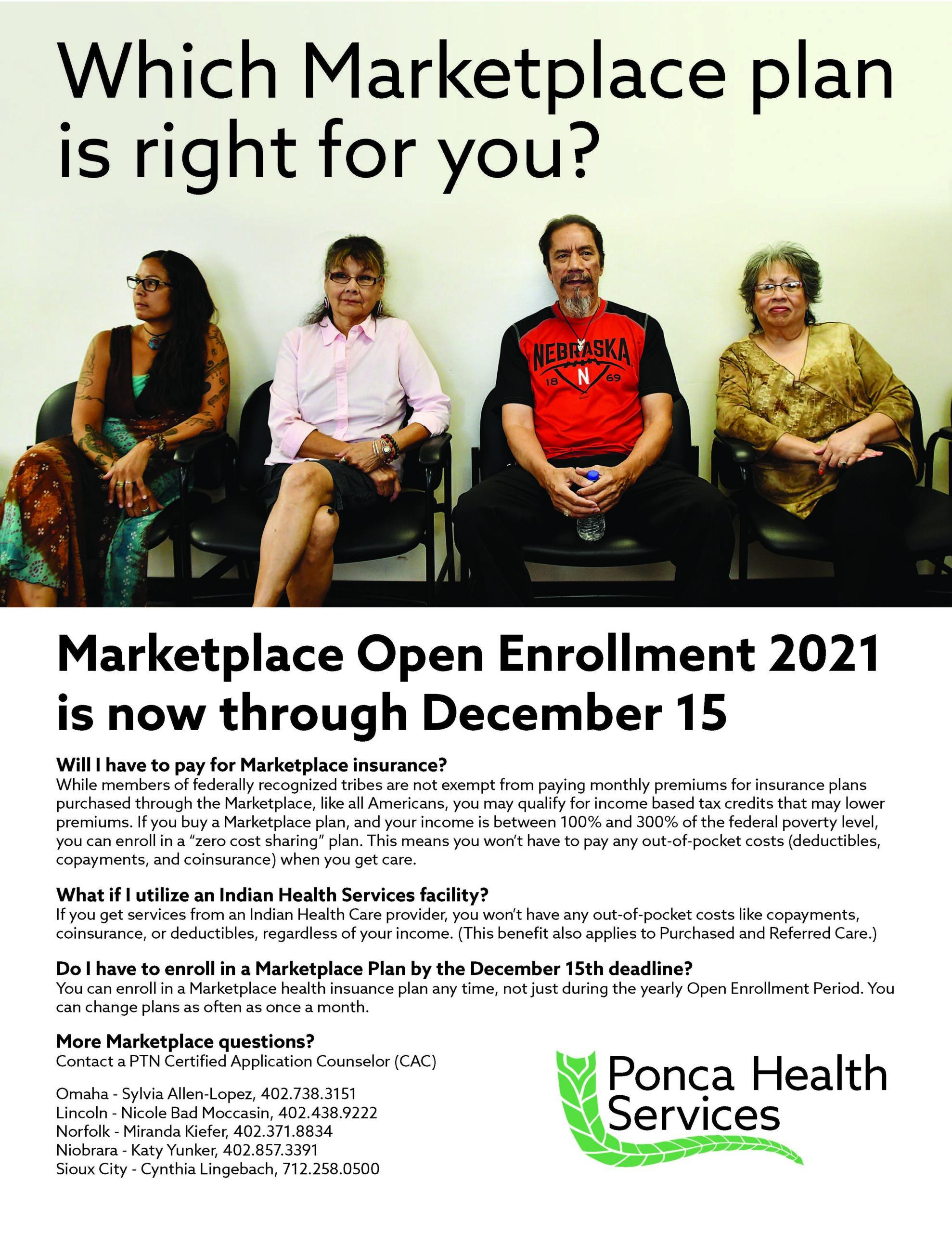 Marketplace Open Enrollment 2021 is now through December 15.