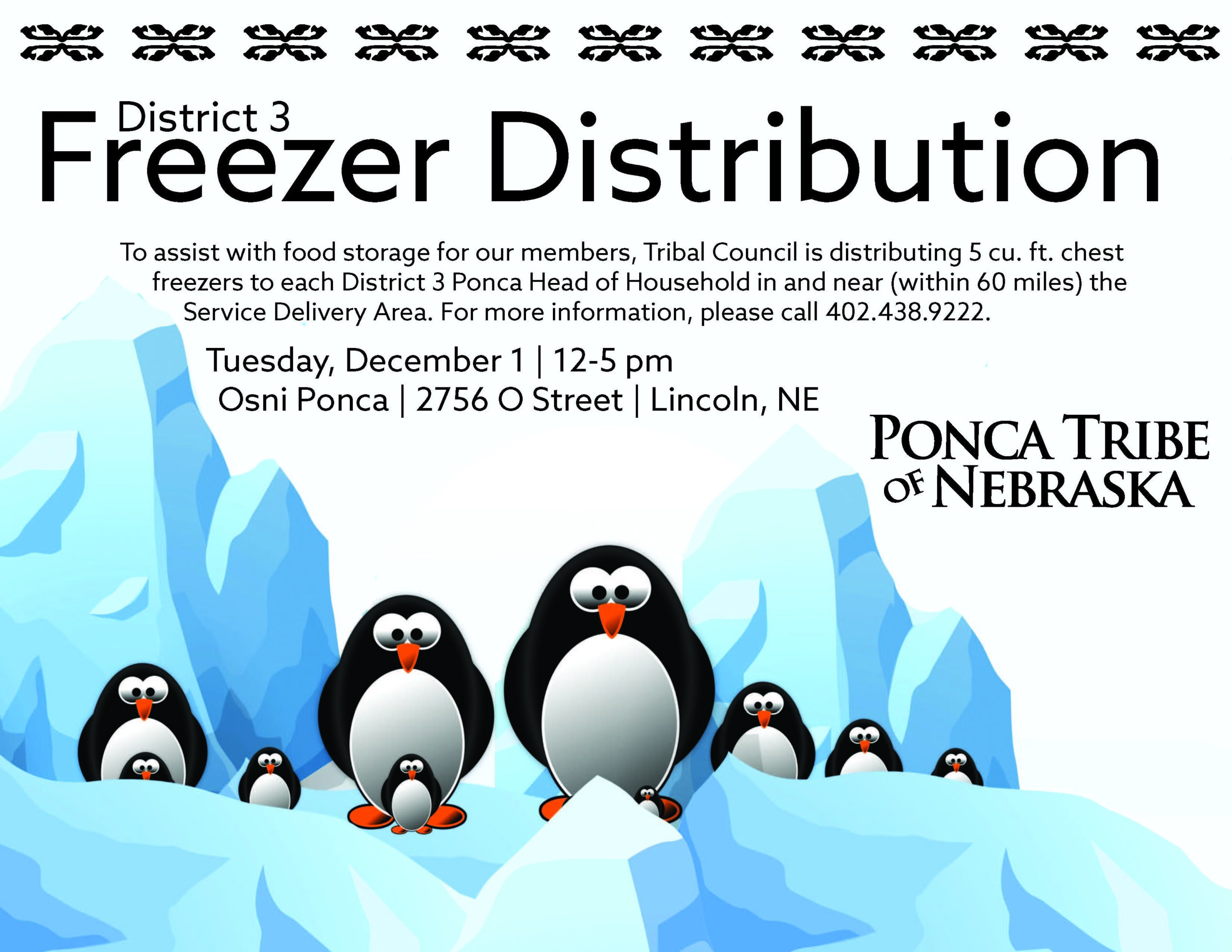 Additional Date for District 3 Freezer Distribution