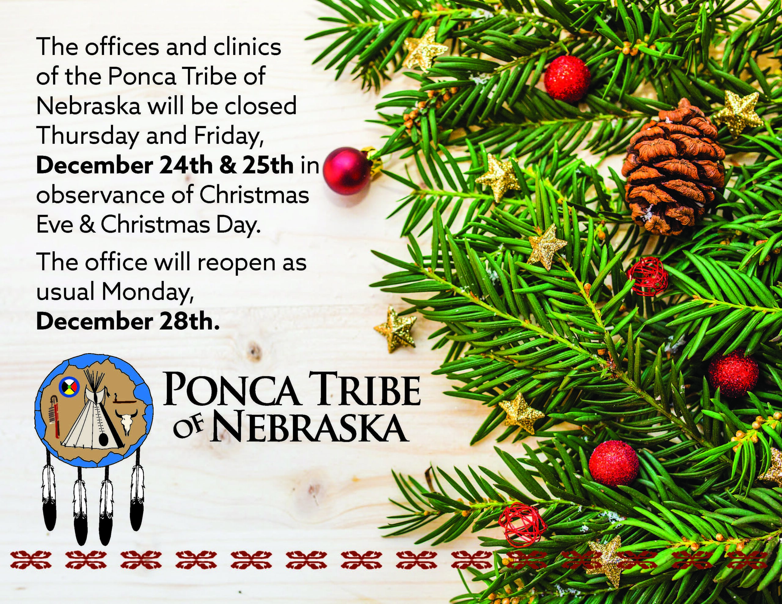 Upcoming Holiday Hours