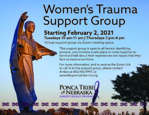 Women's Trauma Support Group – Thursdays
