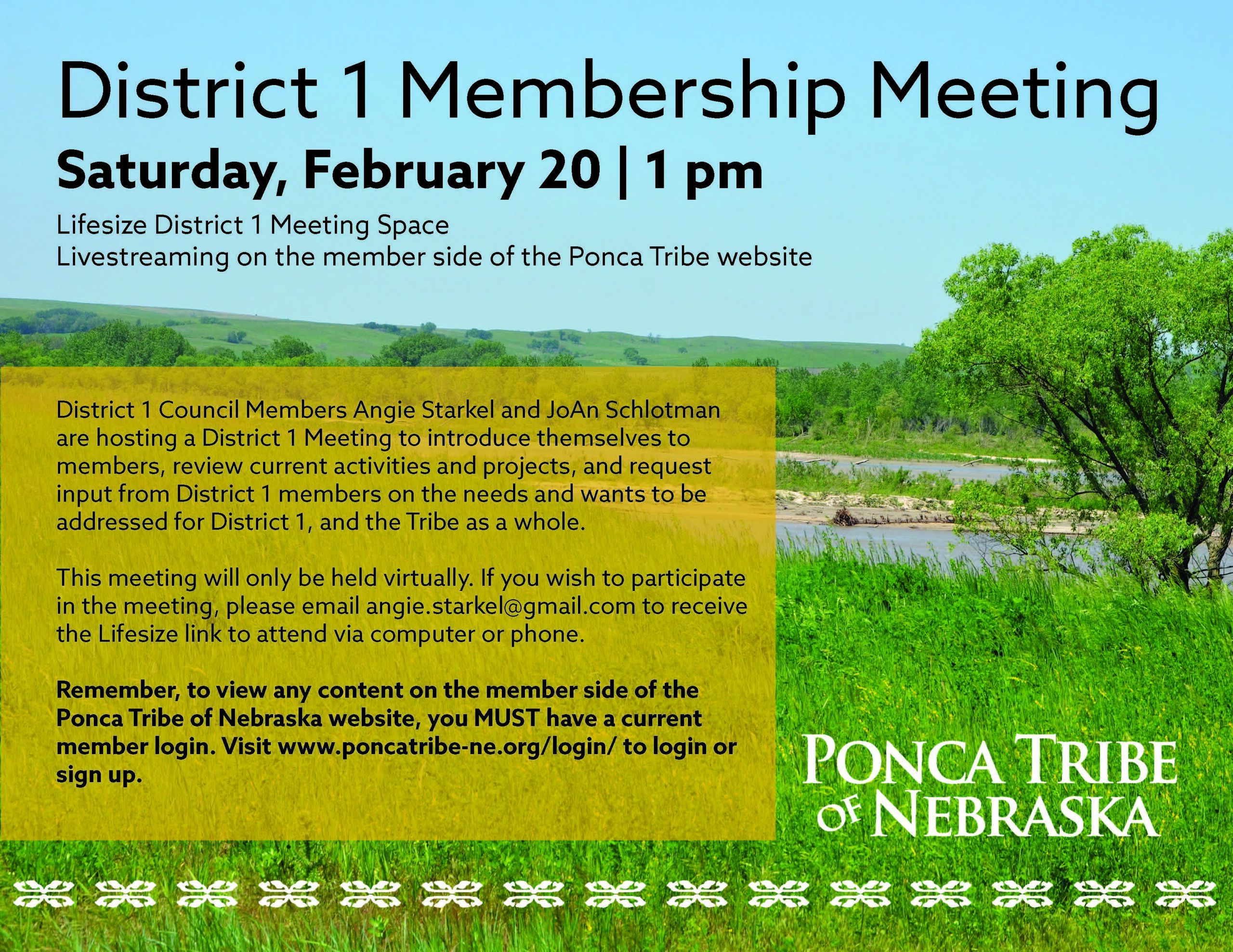 District 1 Virtual Membership Meeting