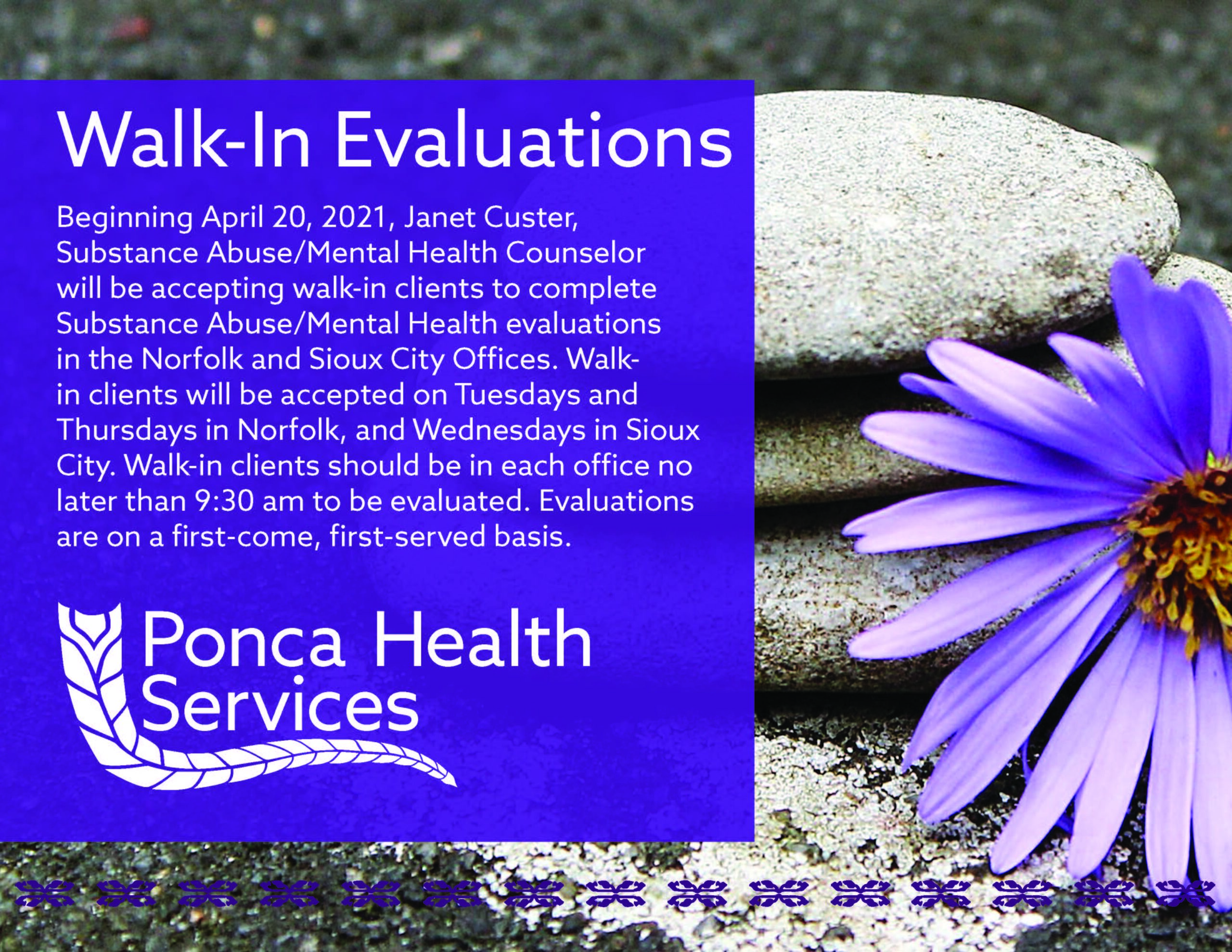 Walk-In Evaluations
