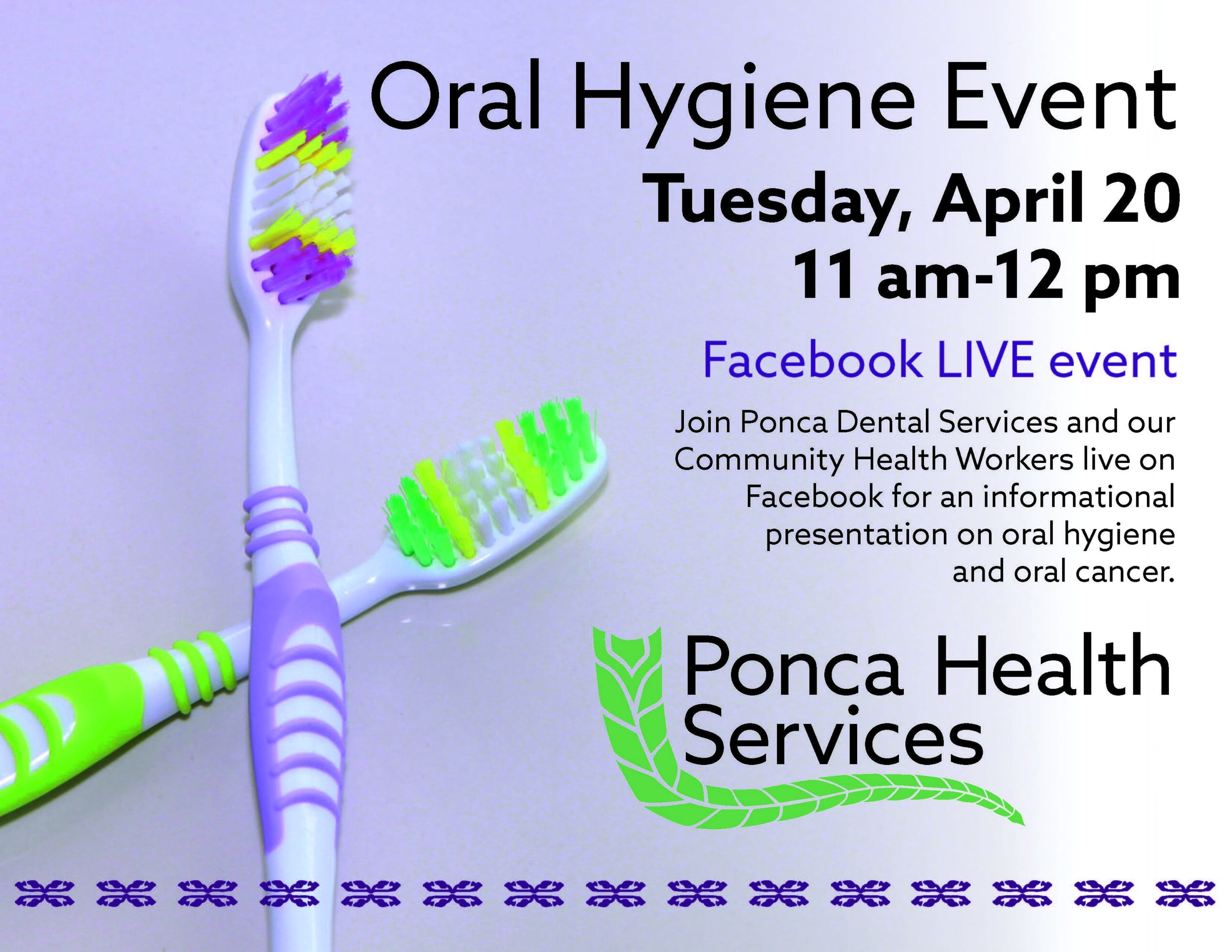 Oral Hygiene Event Live on Facebook