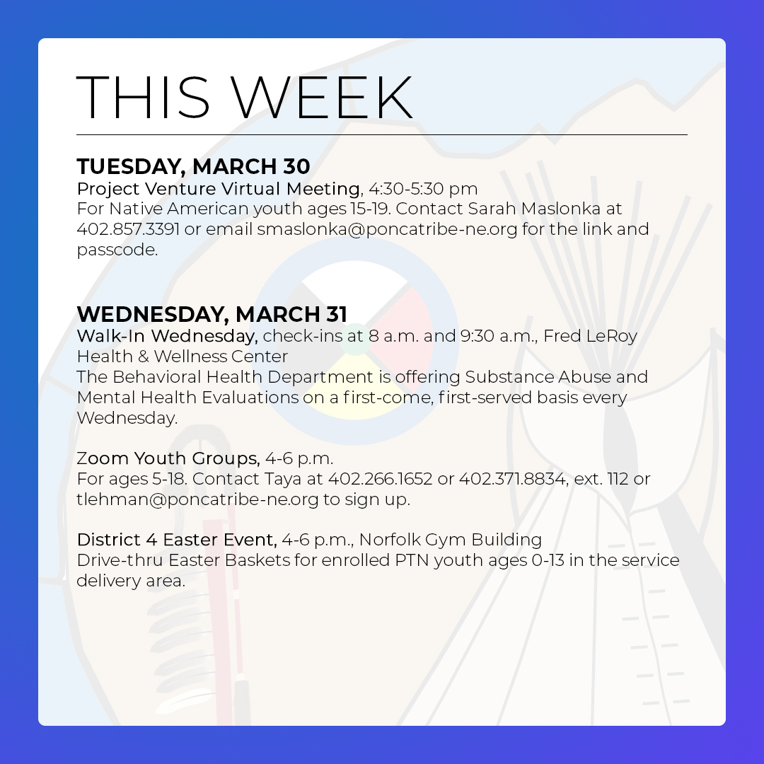 Events & Activities: March 28 – April 3
