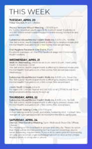Events & Activities: April 18-24th
