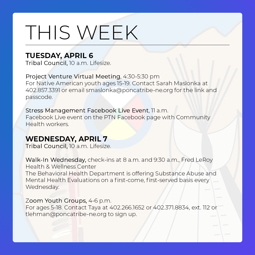 Events & Activities: April 4 – 10