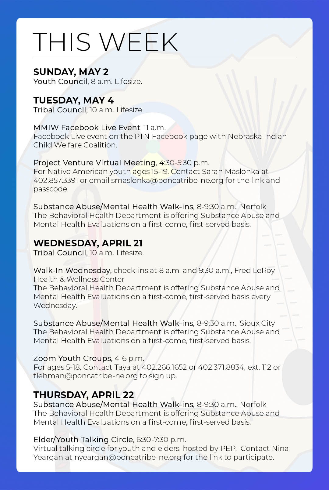 Events & Activities: May 2nd-8th