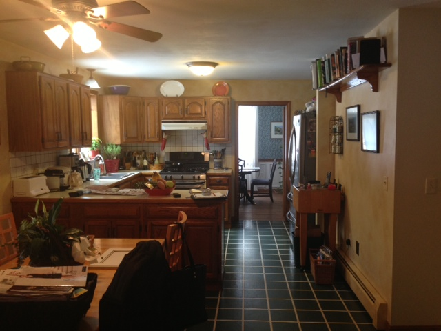 DATED CRAMPED KITCHEN