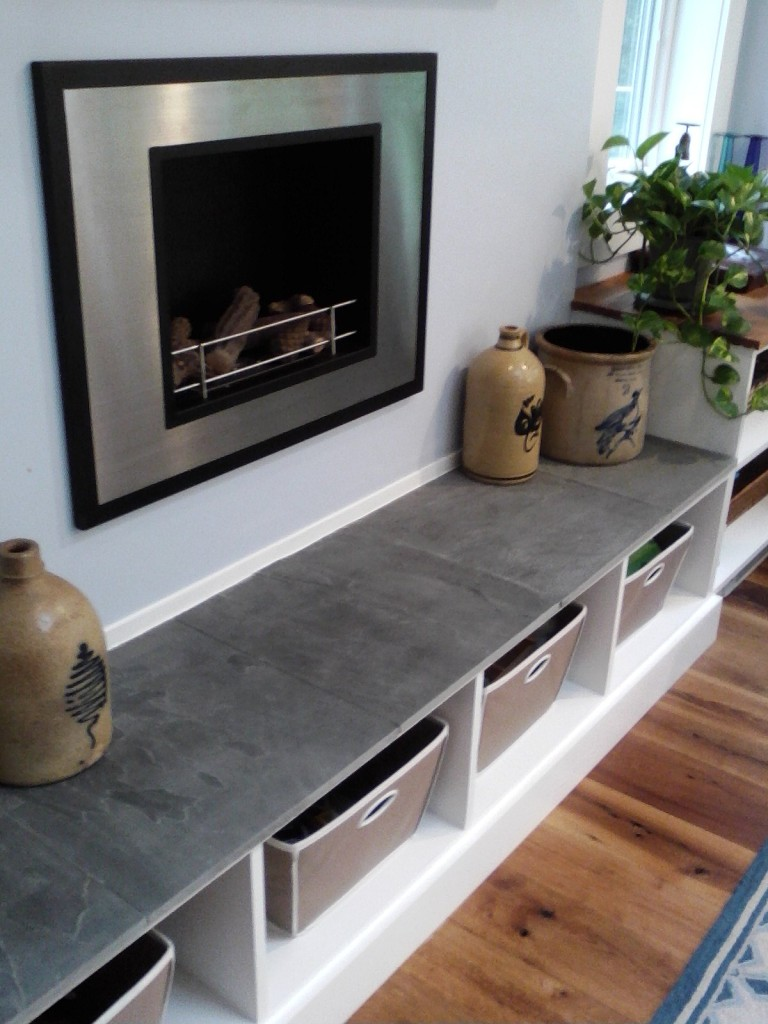AFTER: A VERSATILE BLUESTONE SEATING WITH STORAGE