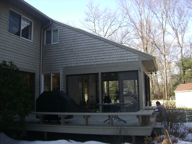 BEFORE: EXTERIOR DECK & 3 SEASON PORCH