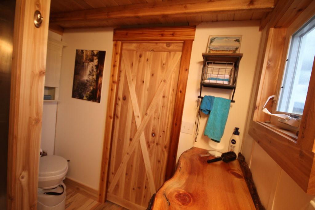 BATHROOM WITH CUSTOM POCKET DOOR