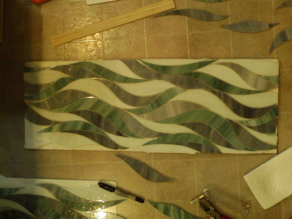 CREATING THE STAIN GLASS TILE MURALS FOR THE SHOWER