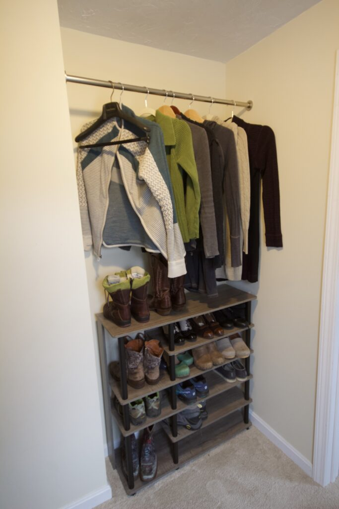 AFTER: ORGANIZED WALK-IN CLOSET