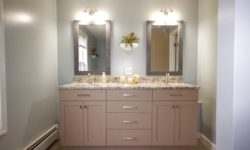 3 cabinets are better than one large vanity