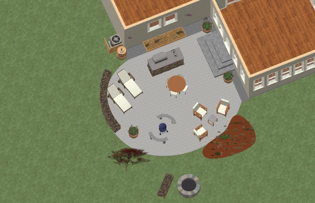 DESIGN STAGE OF PATIO TOP VIEW