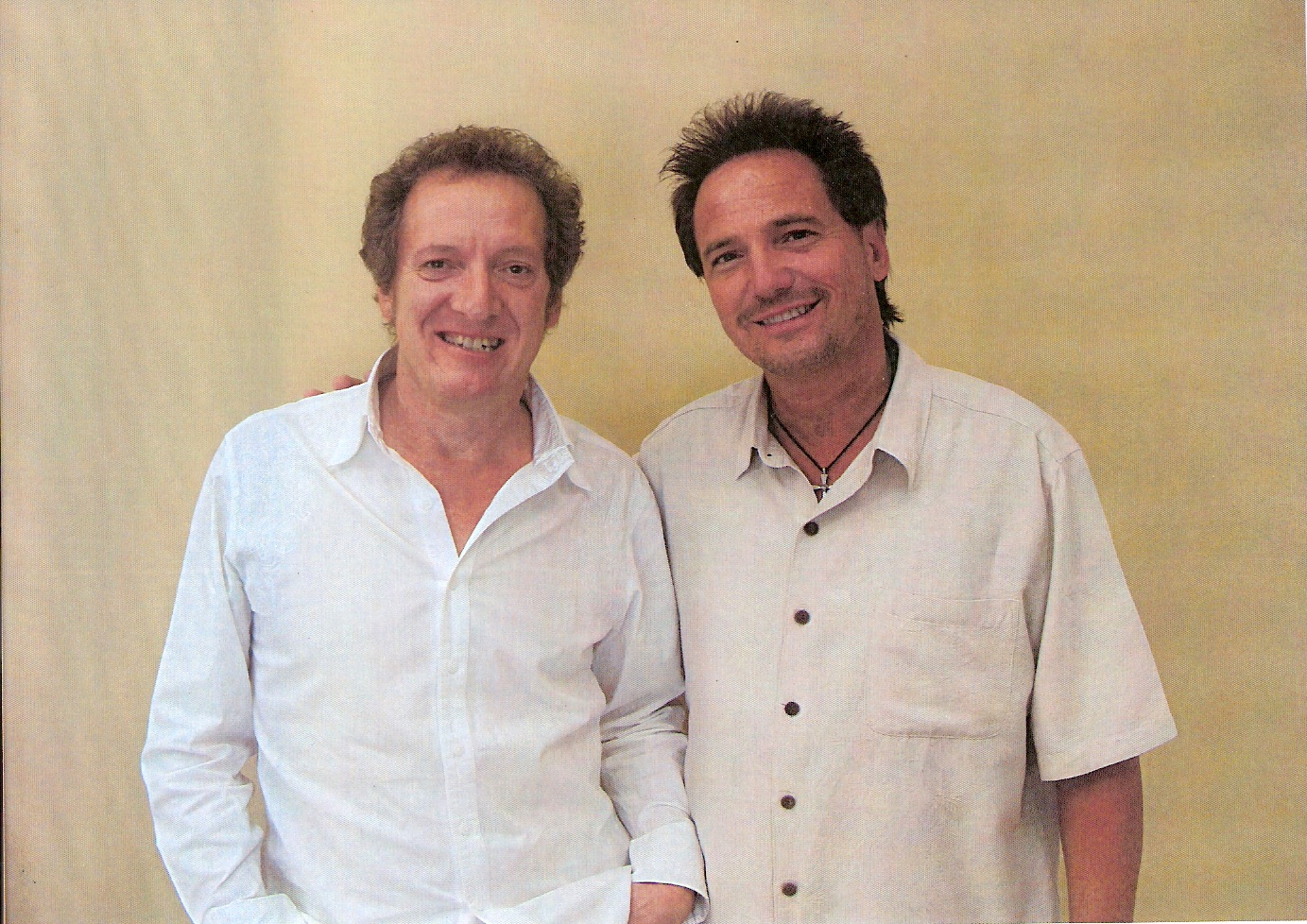 (L) Randy Stonehill and Pastor Keith