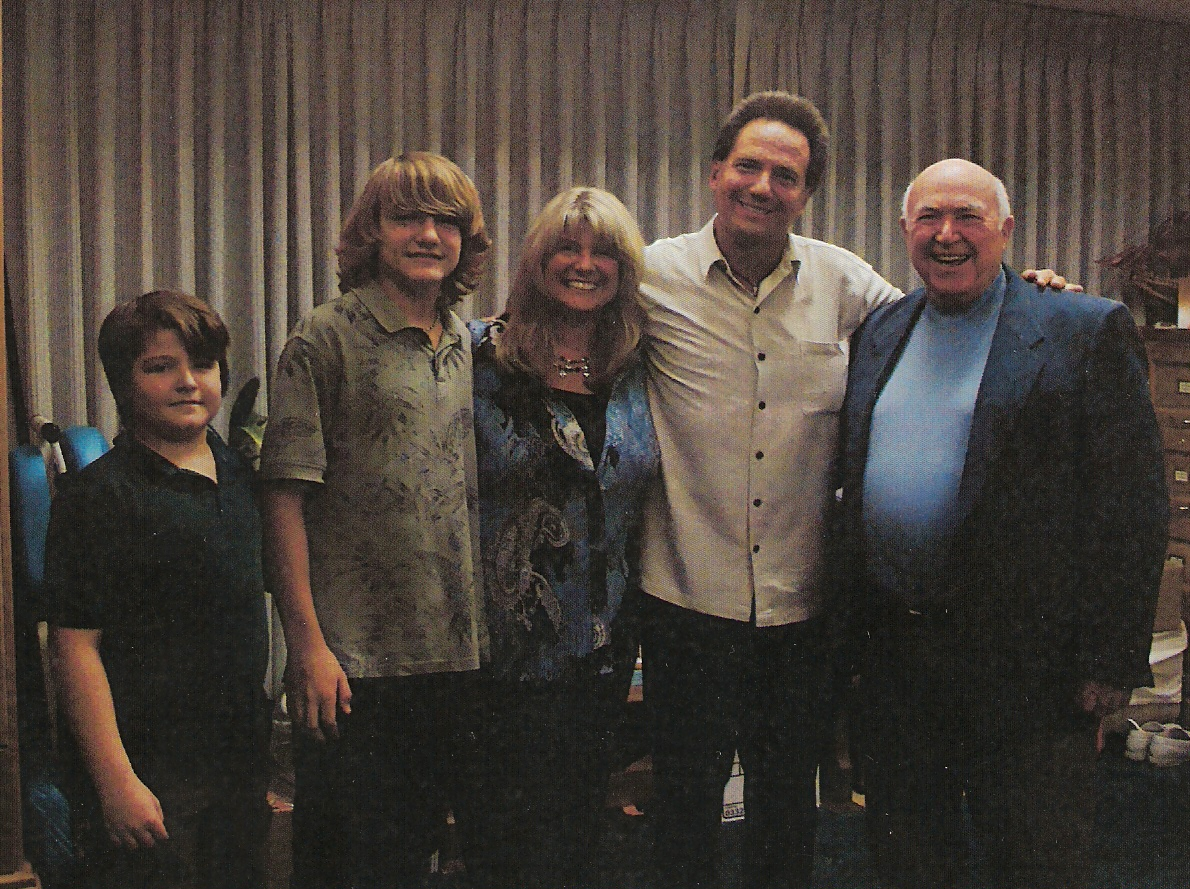 The Pintars with Pastor Chuck Smith at Calvary Chapel Costa Mesa, Calif.