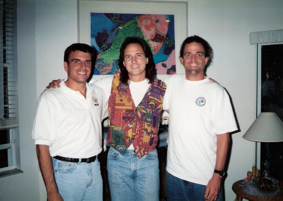 Pastor Keith with Pastor Stephan Tchvidjian(left),and the late Kirk Cottrell (right)