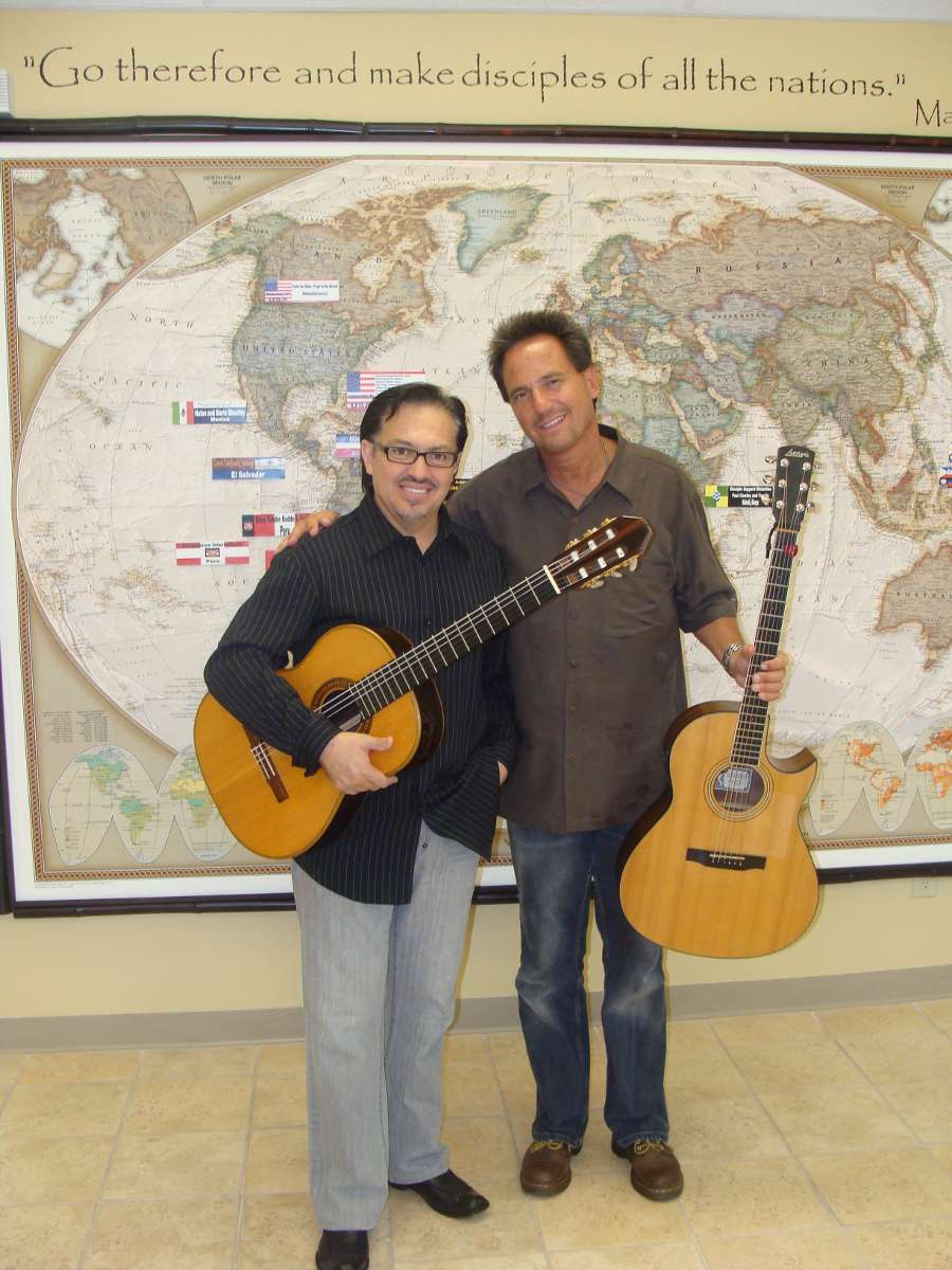 Pastor Keith with classical guitarist Rodrigo Rodriguez