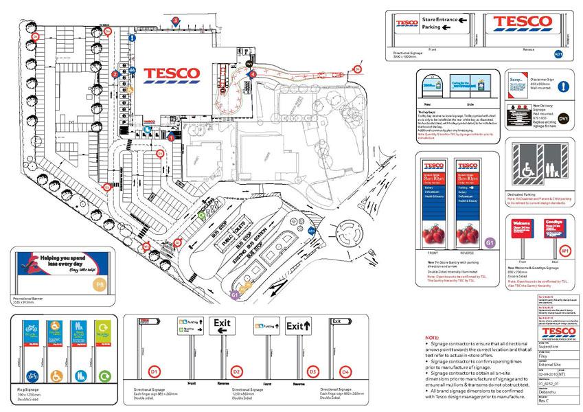 Tesco Store Parking
