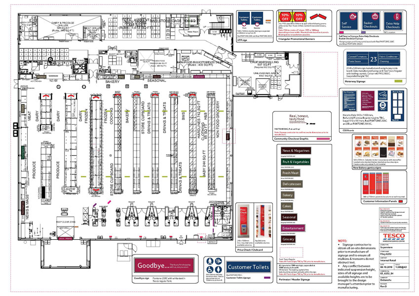 Tesco Store Interior Plan